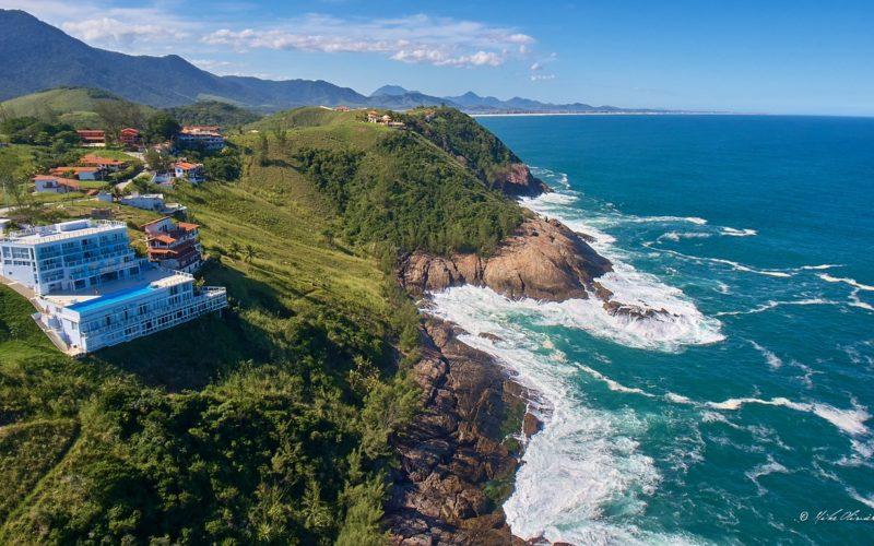 Cinematic Cliff-Top Hotel in Rio de Janeiro